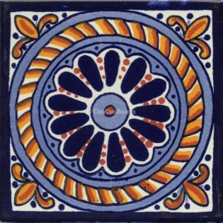 Mexican Talavera Tile Cuerda