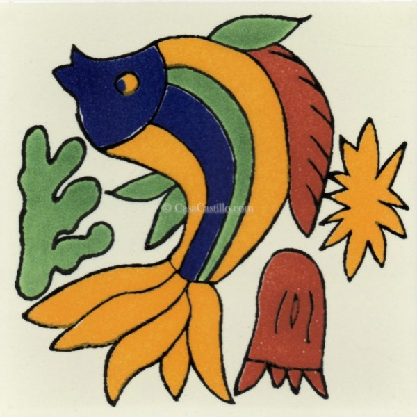 Mexican Talavera Tiles Fish 1