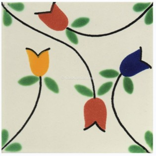 Mexican Talavera Tiles Flowers 5