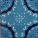 Mexican Talavera Tile Nube Azul