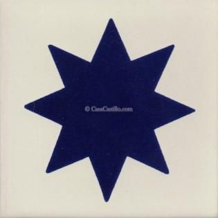 Mexican Talavera Tiles Star
