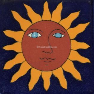 Mexican Talavera Tiles Sun 2