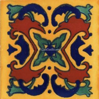 Mexican Talavera Tile Tehuacan