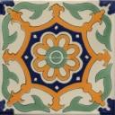 Mexican Talavera Tile Flor Capri