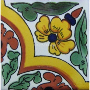 Mexican Talavera Tiles Flowers 22