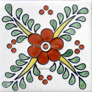 Ceramic Frost Proof Tiles Flowers 6