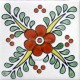 Ceramic Frost Proof Tiles Flowers 6