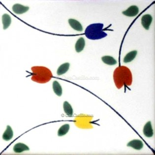 Mexican Talavera Tiles Flowers 7