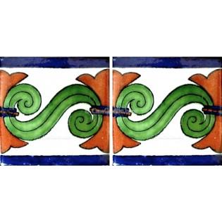 Mexican Talavera Border Tile Sabinas