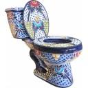 "Mexican Talavera Toilet  ""Cancun"""