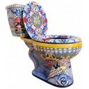 "Talavera Toilet Set ""Colonial"""