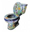 Mexican Talavera Toilet Hummingbirds