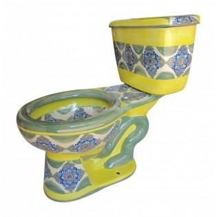 "Talavera Toilet Set ""Nubes"""