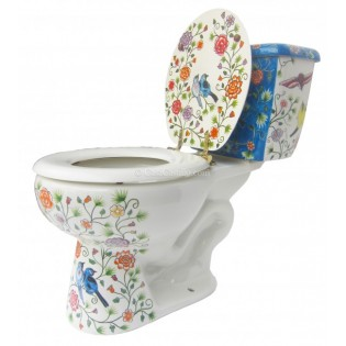 Mexican Talavera Toilet Pajaritos