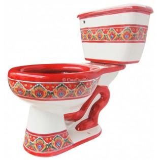 "Mexican Talavera Toilet Set ""Franja"""