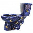 "Talavera Toilet Set ""Lizards"""