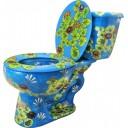 "Mexican Talavera Toilet Set ""Pond"""