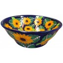 Mexican Talavera Vessel Sink Girasoles