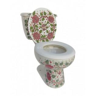 Talavera Toilet Set Rosas