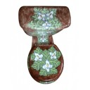 "Talavera Toilet Set ""Lillies"""
