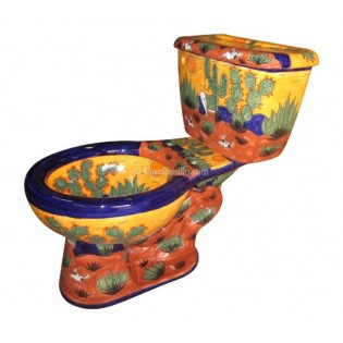 "Talavera Toilet Set ""Rancheros Amarillo"""