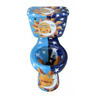 "Talavera Toilet Set ""Eclipse"""