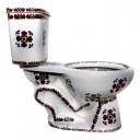 "Talavera Toilet Set ""Trebols"""