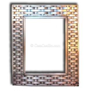 Mexican Tin Mirror Elegant Braided