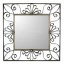 Mexican Tin Mirror Flores Colonial