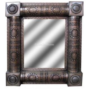 Mexican Tin Mirror Maya