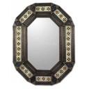 Mexican Tin Mirror Octagono de Flores