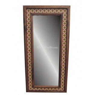 """Wooden Mirror 48""""x36"""" with Tiles"""