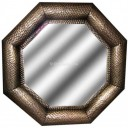 Octagonal Mexican Tin Mirror Glory