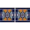 Mexican Talavera Border Tile Romanesco