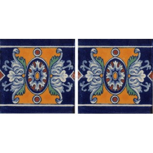 Mexican Talavera Border Tile Romanesco