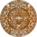 Talavera High Relief Mural Calendario Azteca