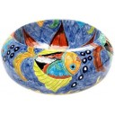 Talavera Round Vessel Sink Donut Fishes