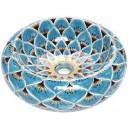 Talavera Round Vessel Sink Donut Pavo Real Azul