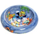 Talavera Round Vessel Sink Donut Fishes 2