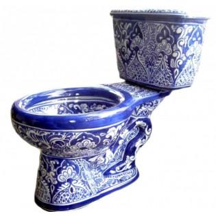 "Talavera Toilet Set ""Acapulco Azul"""