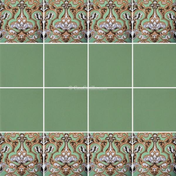 Mexican Border Tiles High Relief Ceramic Ambrosia