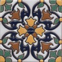 Ceramic High Relief Tile Carnaval Flor