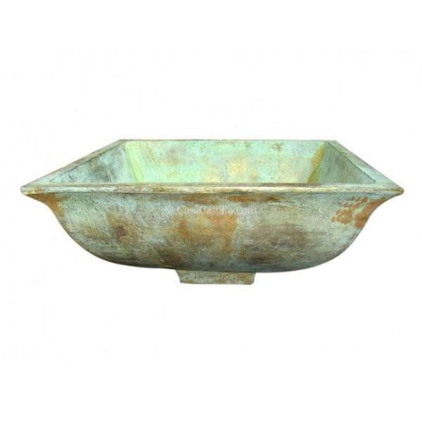 Mexican Bronze Sink Square Tazon