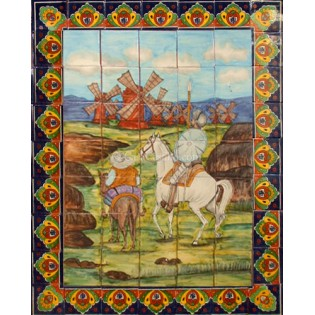 Ceramic Frost Proof Mural Don Quijote