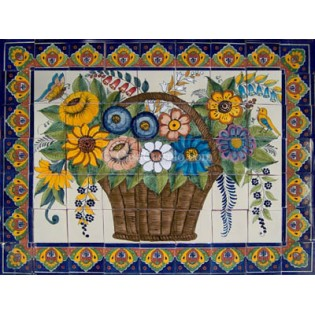 Mexican Talavera Mural Flores2
