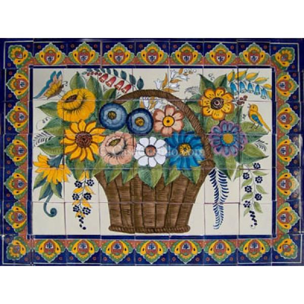 Ceramic Frost Proof Mural Flores 2