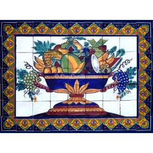 Mexican Talavera Mural Frutas1