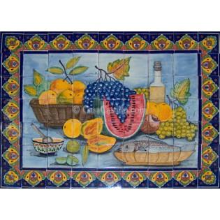 Mexican Talavera Mural Frutas2