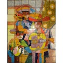 Ceramic Frost Proof Mural Mariachi 1