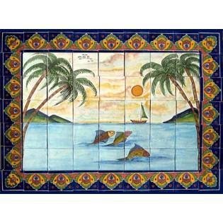 Mexican Talavera Mural Playa1